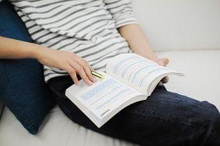 語学の勉強中