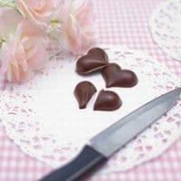 ハートチョコとナイフ