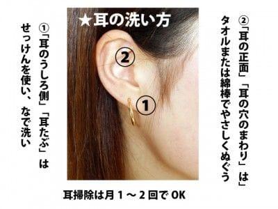 耳の洗い方