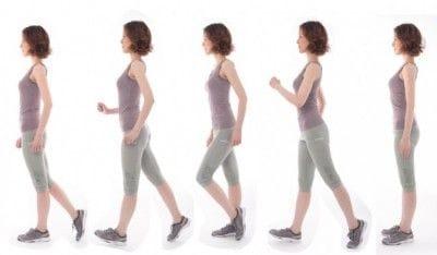 一番のポイントは「ウエスト(骨盤)から足である」と意識して歩くこと