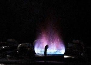 コンロの火