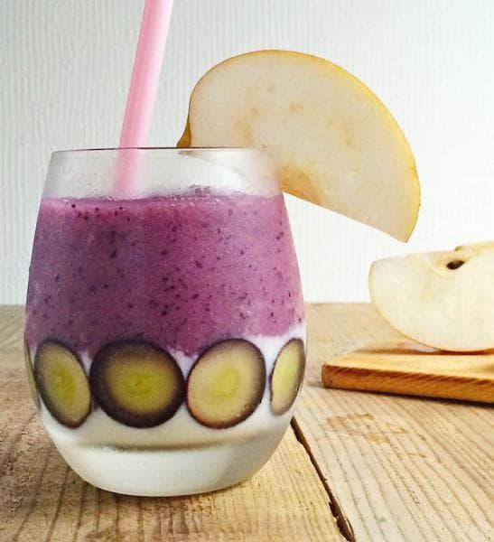 ブドウを合わせた和梨のスムージー