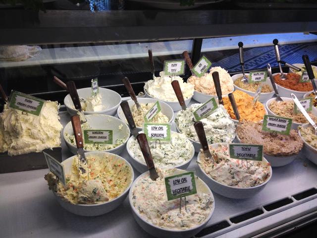 NYで人気の「NUSSBAUM&WU Bakery」。他店に比べると、ローカロリーのクリームチーズが多いとか。