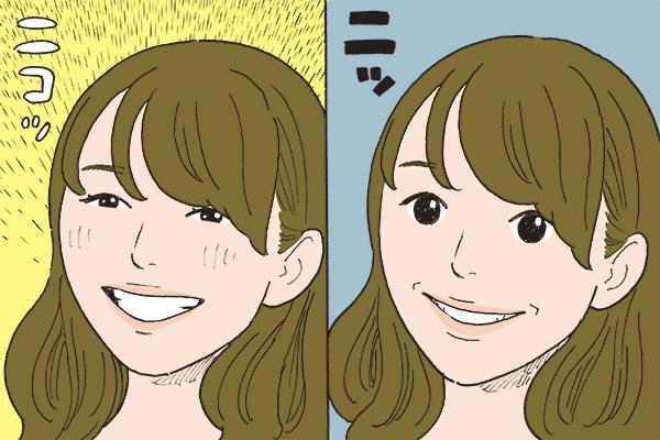 """自然な笑顔のポイント""""口の形を母音の「イ」にする"""""""