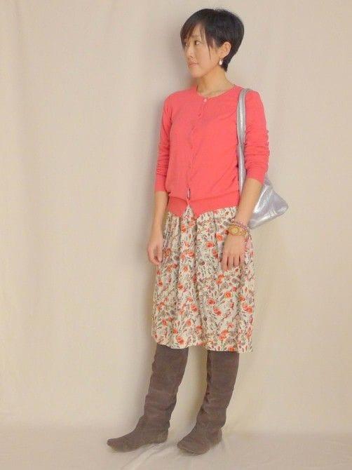 今季イネスコラボの花柄スカート