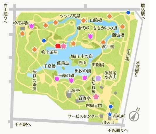 六義園 園内マップ