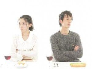 不機嫌なカップル