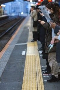 電車で美人がいたら