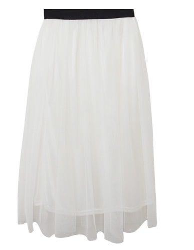画像2 今春マスト!なホワイトの透け感スカート