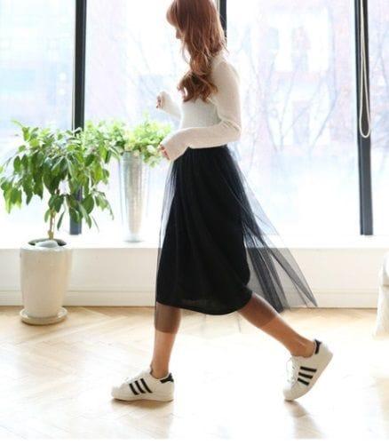 画像1 トレンドの透け感スカート