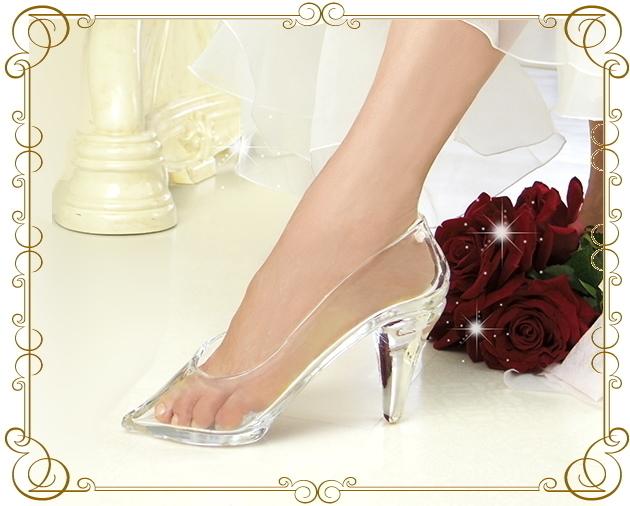 リアルにシンデレラになれちゃう 本当にはける手作りのガラスの靴
