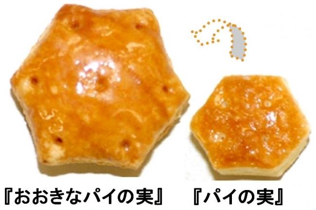 通常のパイの実の約3倍(標準重量比較)