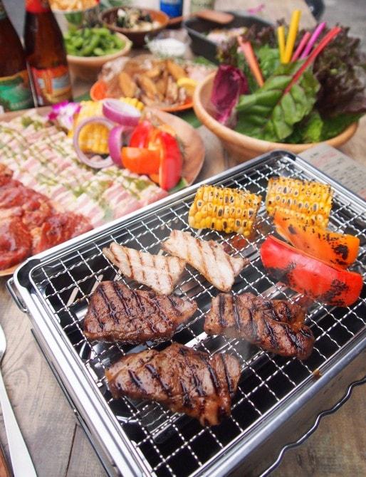 「Hawaiian vege wrap BBQ Set(ハワイアン・ベジ・ラップBBQセット)」税込2700円/1人(2名より)