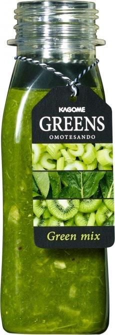 小松菜やセロリ、キウイなど緑色野菜を使った「Green mix」