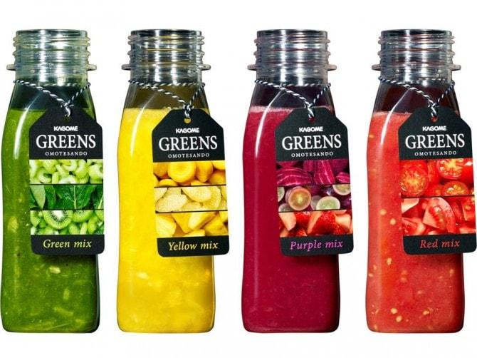 これまでにない生鮮飲料「GREENS」 各480円