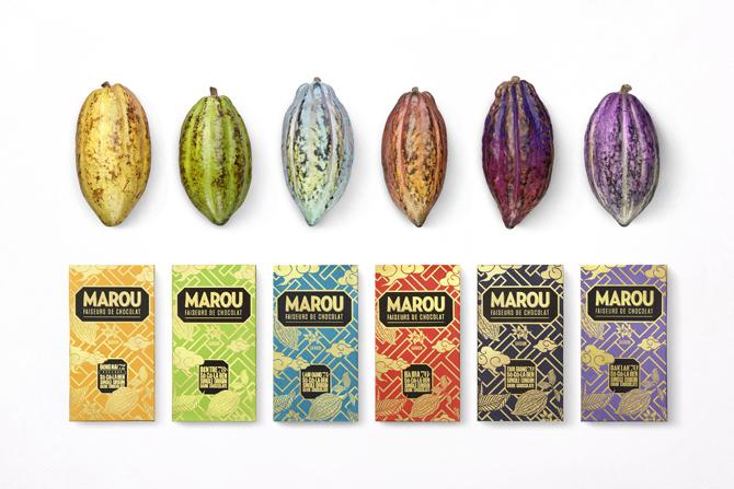 ベトナムの文様を組み込んだパッケージも現地で印刷「マルゥ・チョコレート」(各・税抜1150円/アマイジャパン)
