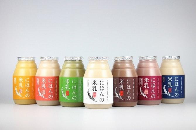 「ライスミルク にほんの米乳シリーズ」(白州屋まめ吉)150ml165円(税別)~(商品によって異なる)