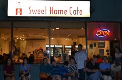SWEET HOME CAFE店頭