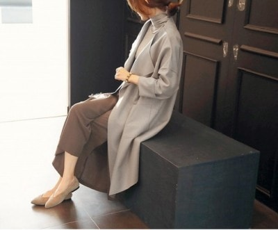 コーディガン×ワイドパンツの最旬コーデは見逃せない[オシャレ製作所/コーディガン コート ロング :naning9(ナンニング) 税抜9980円  http://www.osharefactory.jp/products/detail.php?product_id=272700304]