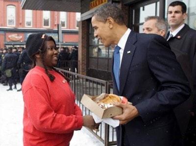 オバマアメリカ合衆国大統領も来店!