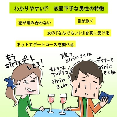 わかりやすい!? 恋愛下手な男性の特徴【イラストコラム ...