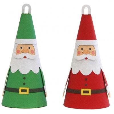 「クリスマスオーナメント サンタクロース」(キヤノン)完成写真。クリエイティブパーク(http://cp.c-ij.com/jp/contents/CNT-0011645/index.html)から無料でダウンロードできる