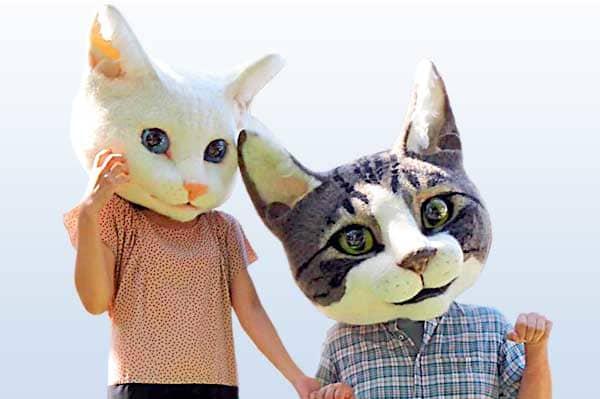 法雪リアル猫ヘッドをかぶって、パシャリ。