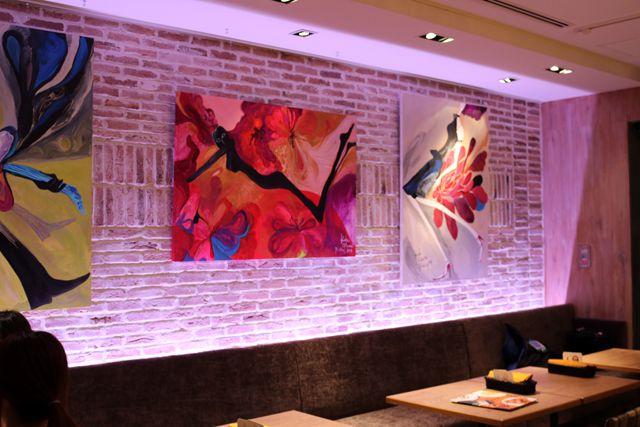 店内のアート作品