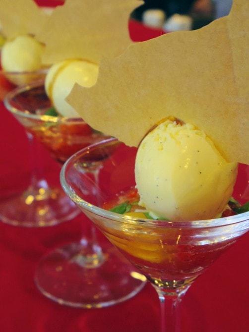 カラフルトマトとふくはる香のバルサミコマリネ バジリコの香り