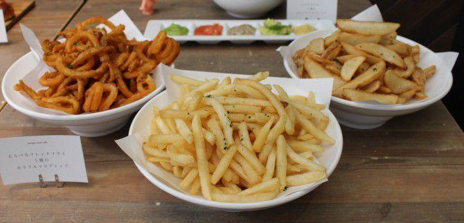 3種類から選べるポテトと5種のカラフルマヨディップ(700円)