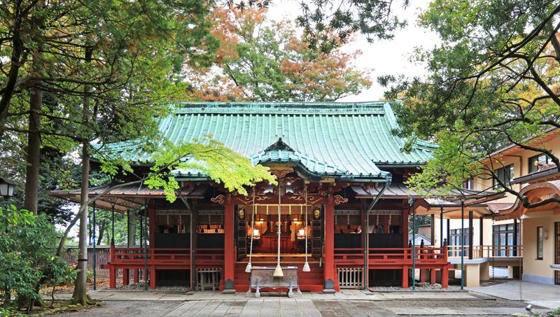 赤坂氷川神社の社殿写真