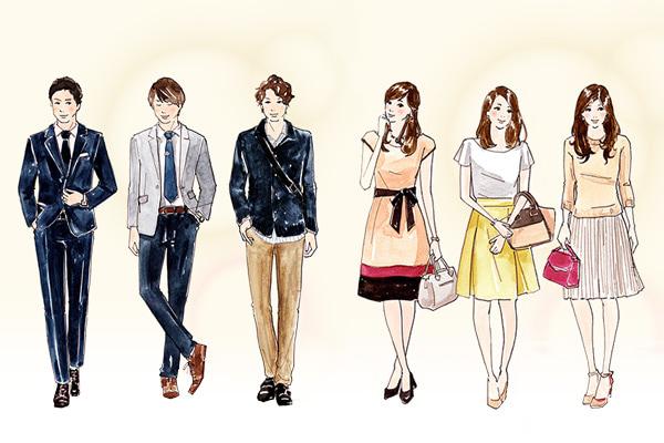 イラストで解説 異性に好印象を与える婚活ファッションマイナビ