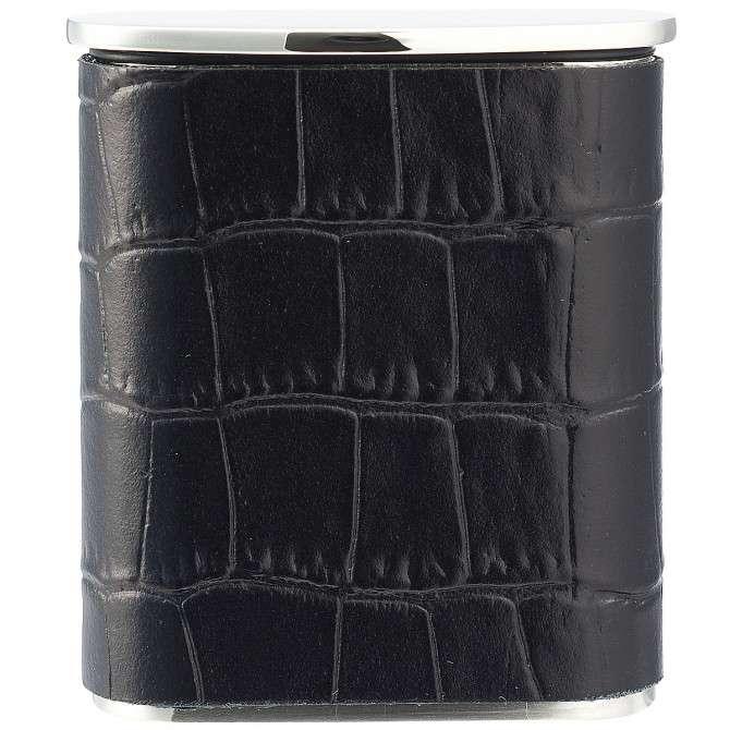 PEARL タスカ携帯灰皿 クロコ型押しレザー ブラック 4,860 円(税込)