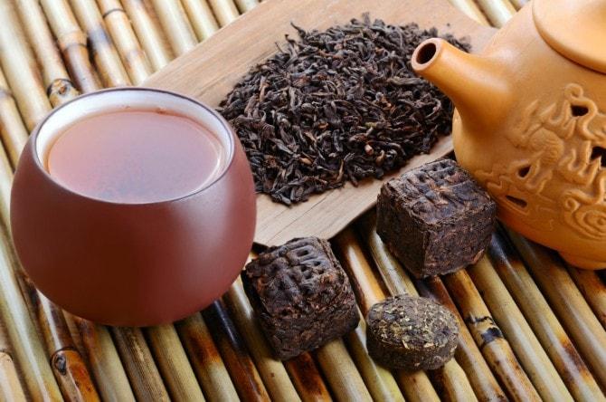 プーアール 茶 カフェ イン