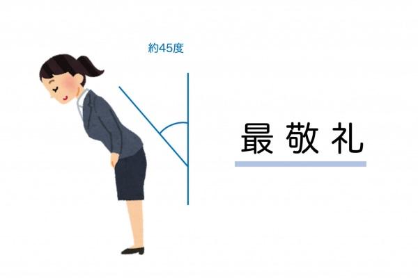 正しいお辞儀の仕方(最敬礼)