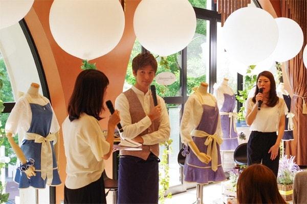ゲストとして登場したのは、雑誌の連載やTVで活躍している寺田真二郎氏(料理研究家・写真中央)