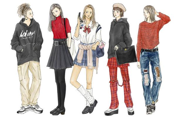 リバイバルして流行中! 「90年代ファッション」【イラストで解説 ...