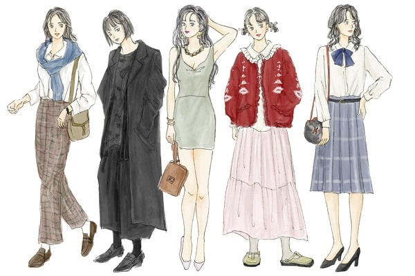 イラストで解説】「80年代ファッション」とは。ハマトラ、カラス