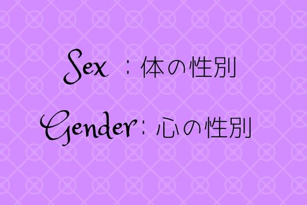 セックスとジェンダーの違い