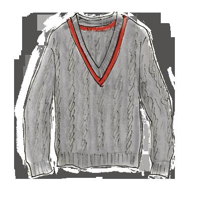80年代ファッションアイテム「カレッジニット」