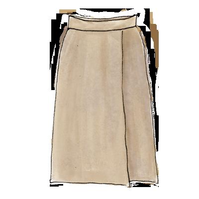 80年代ファッションアイテム「ひざ丈スカート」