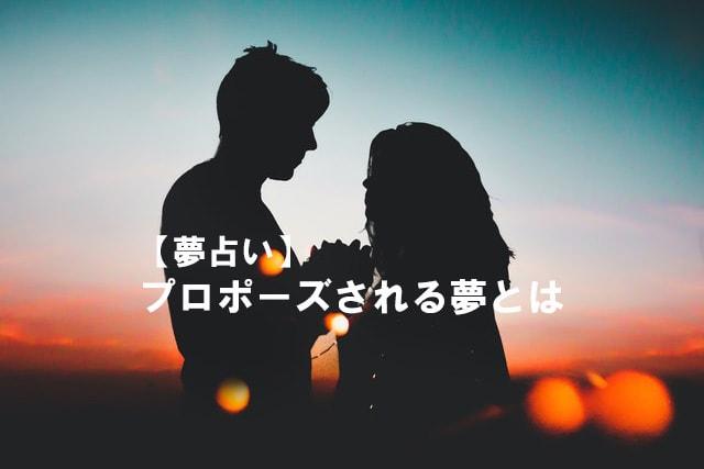 プロポーズ され る 夢 【夢占い】プロポーズされる夢が示す意味や心理10選