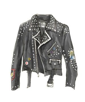 70年代ファッションアイテム「鋲打ちしたレザージャケット」
