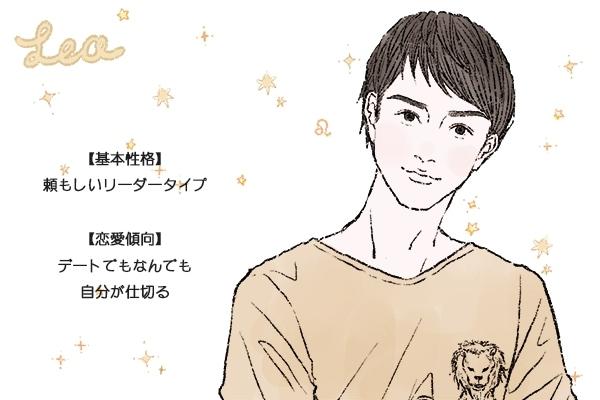 獅子座男性の性格と恋愛傾向