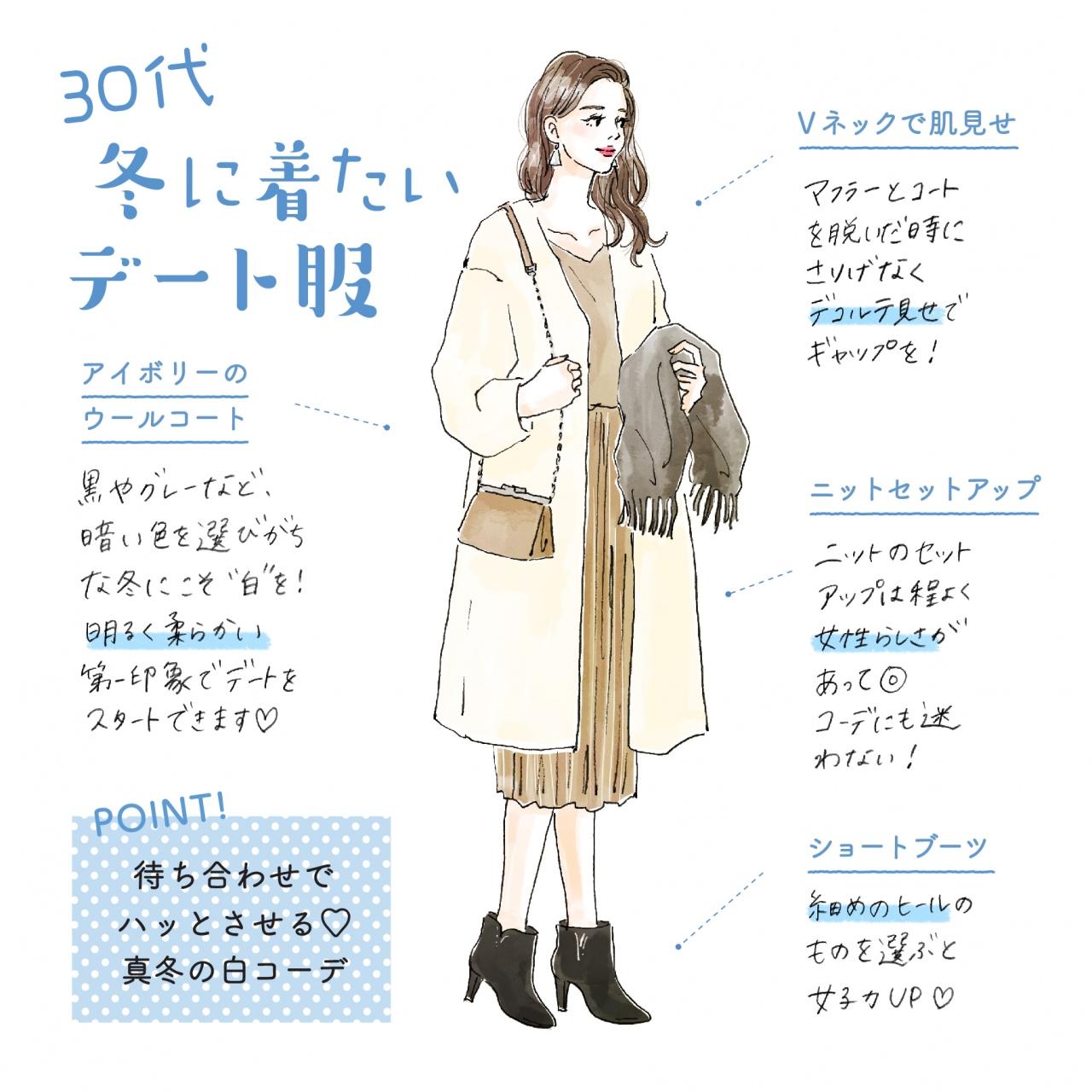 30代デート服 冬