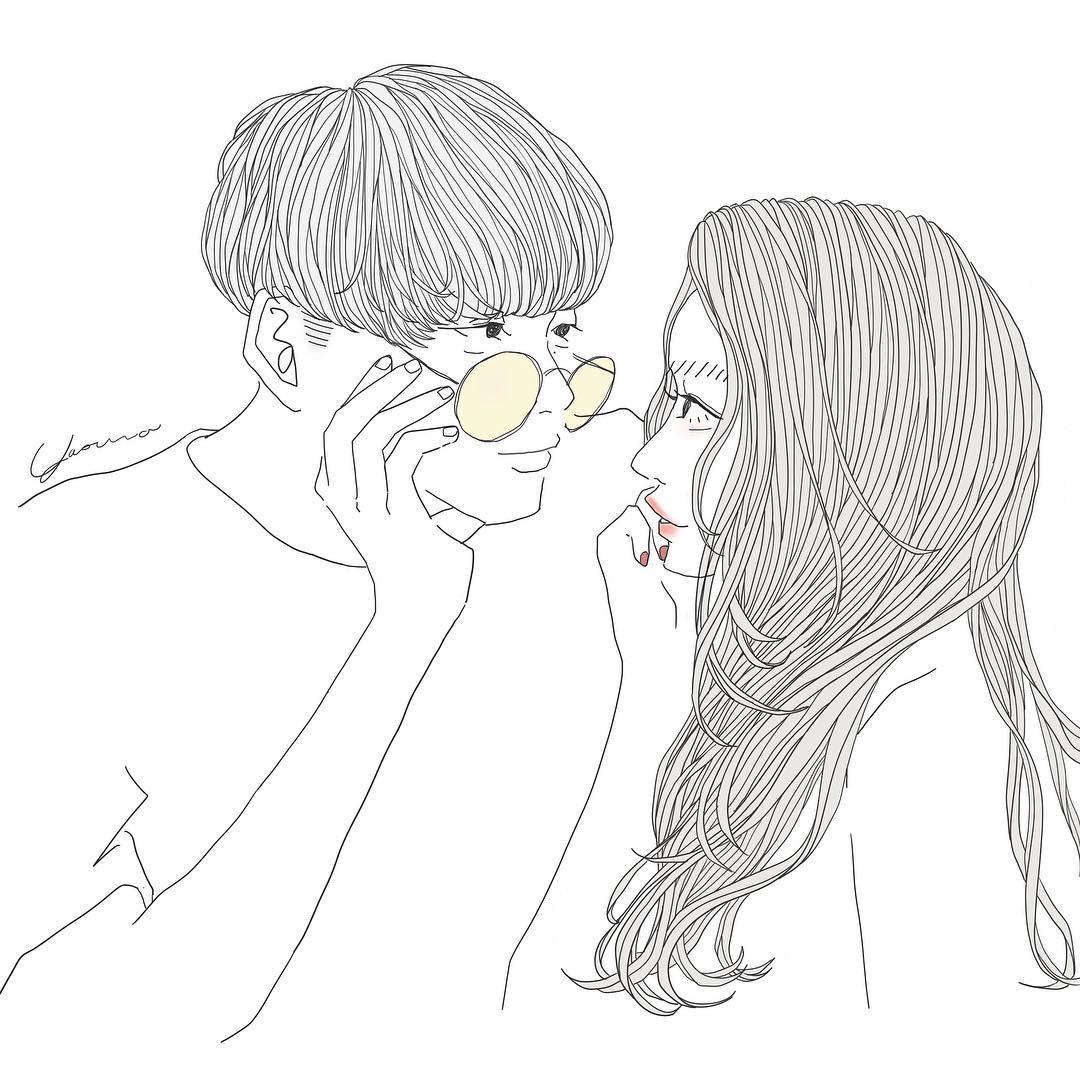 眼鏡の彼氏と彼女