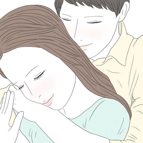 カップルインスタ「羽交い締めポーズ」