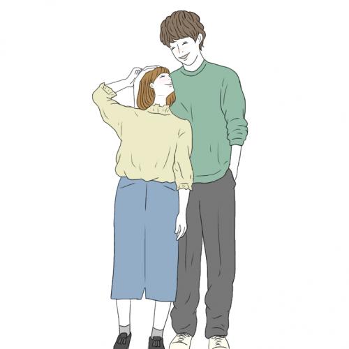 インスタカップル「彼氏見上げポーズ」