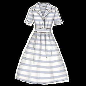 50年代ファッション「ウエストを絞ったワンピース」