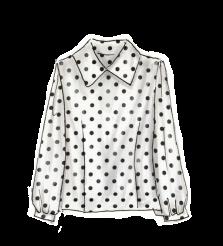 1950年代ファッション「ポルカドット柄のシャツ」